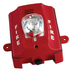 Bosch SS-P2RK 2 Wire Wall-Mount Outdoor Horn Strobe, Red