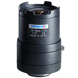 "Computar T4Z2813CS-IR 1/3""  F1.3 with Iris &  Manual Iris CS Mount, Day/Night IR, 2.8-12mm Lens"