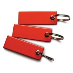 Interlogix TP-MFC-KF-RD-25PK TruPortal Credential, Mifare Classic Keyfobs Piano, Red, 25 Pack
