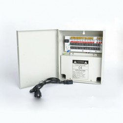 Cantek CTW-12VDC-18P-10A 18 PTC Output CCTV Distributed Power Supply