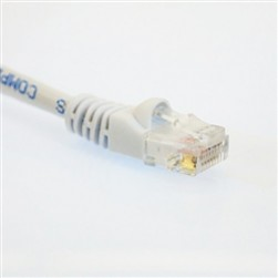 Cantek CT-W-CAT5E-25 White CAT5E UTP Patch Cable White Color