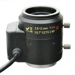 Cantek CT-W-2MP-LAVF2812 2 Megapixel Manual Iris CS Mount, 2.8-12mm Lens