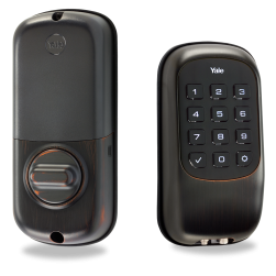 Yale YRD110ZW0BP Key-Free Push-Button Z-Wave Deadbolt Entry Lock