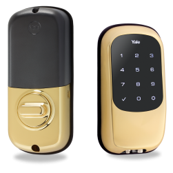 Yale YRD120ZW605 Key-Free Touchscreen Z-Wave Deadbolt (Bright Brass)