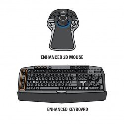 Pelco A1-KBD-3D-KIT2 VX Enhanced Keyboard and 3D Mouse Combination Kit
