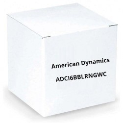 American Dynamics ADCI6BBLRNGWC Clear Bubble with White Trim Ring