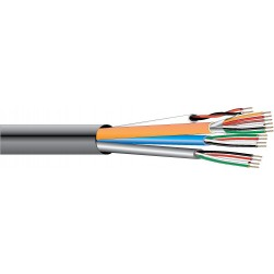 West Penn AQC1822GY1000 Access Control Composite Cable 1000 Ft Gray