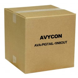 Avycon AVA-PIGTAIL-1IN8OUT DC Male Pigtail with 1 Input / 8 Output