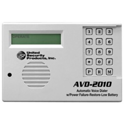 United Security Products AVD-2010 PKG Auto Voice Dialer with PLS, PRS & Low Battery Indicator