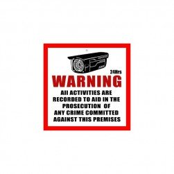 "Cantek CT-SS-2 CCTV Warning Signs - Small Size 2.5"" x 2.5"""