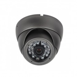 Cantek CT-HDC-DI2402-2M-3.6-B 2 Megapixel HD Quad IR Small Dome Eyeball Camera, 3.6mm, Black