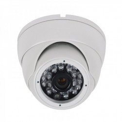 Cantek CT-HDC-DI2402-2M-3.6-W 2 Megapixel HD Quad IR Small Dome Eyeball Camera, 3.6mm, White