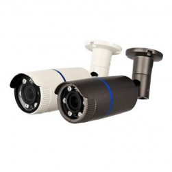 Cantek CT-HDC-IR6A-2M-2812-B 1080P HD-AHD/CVI/TVI/Analog Outdoor Bullet Camera, 2.8-12mm Lens, Black