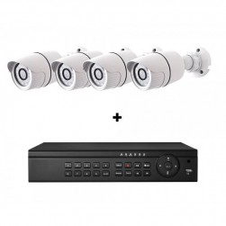 Cantek-Plus CTPK-NH41B4-2T IP Camera System w/(4) Bullet Cameras, 2TB