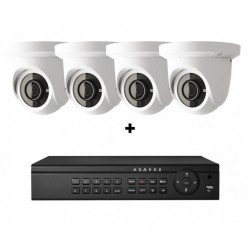 Cantek-Plus CTPK-NH41E4-2T IP Camera System w/(4) Eyeball Cameras, 2TB