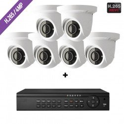 Cantek-Plus CTPK-NH41E6-4T IP Camera System w/(6) Eyeball Cameras 4TB