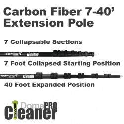 Dotworkz DW-EP40 DomeCleanerPRO Carbon Fiber Extension Pole 40 Foot