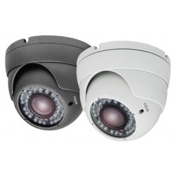 Ikegami ECO-HDB2812 1080p HD Outdoor Turret IR Varifocal Color Dome Camera, 2.8‐12mm Lens