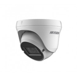 Hikvision ECT-T32V2 1080p HD-AHD/HD-TVI/HD-CVI Analog Outdoor IR Dome Camera, 2.8-12mm Lens