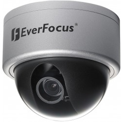 Everfocus ED610/MVB Color Day/Night plus Wide Dynamic Range, Outdoor Vandal Dome Camera, Silver