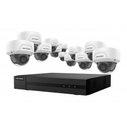 Hikvision EKI-K164D412 16-Channel 4K NVR 4TB with 12 x 4MP Outdoor Dome Cameras, 2.8mm Lens