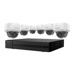 Hikvision EKI-K82D46 8-Channel 4K NVR 2TB with 6 x 4MP Outdoor Dome Cameras, 2.8mm Lens