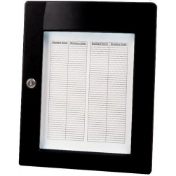 Alpha ELD1B Sep Lighted Directory Black