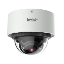 InVid ELEV-P5DRXIRAF2812 5 Megapixel IP Plug & Play IR Outdoor Dome Camera, 2.8-12mm Lens