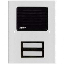 Alpha ES512/02 2 Plastic Buttons L/S Panel-Economical-Aluminum