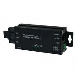 American Fibertek ET1111-A-MT Industrial Microtype 10/100Base-TX to 100Base-FX Ethernet Media Converter