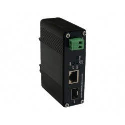 American Fibertek ET1212H-S-DR 10/100/1000Base-TX to 1000Base-FX SFP Ethernet Media Converter