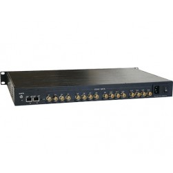 American Fibertek ET4200CPp-RS16 Receiver of 16 Port Coax to 4 Port 10/100/1000Base-TX Ethernet Switch with PoC