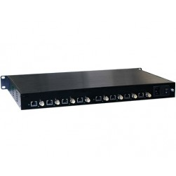 American Fibertek ET8100CP-R8 Receiver of 8-port Coax to 8-port 10/100Base-TX Ethernet over Coax Extender with PoC