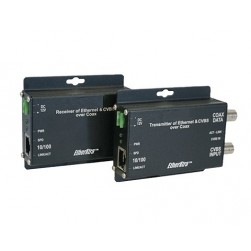 American Fibertek ET1100C2-T Transmitter of 10/100Base-TX Ethernet Plus CVBS Over Coaxial