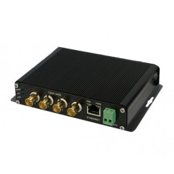 American Fibertek ET1200CPp-RS4 Receiver of 4 Port Coax to 1 Port 10/100/1000Base-TX Ethernet Switch with PoC
