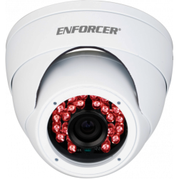 Seco-Larm EV-N2206-2W4Q 2 Megapixel Indoor/Outdoor IR Network Rollerball Camera, 2.8mm Lens, White Housing