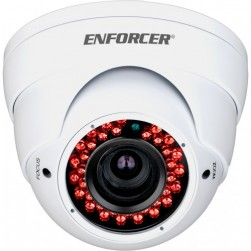Seco-Larm EV-N2206-MW4Q 2 Megapixel Indoor/Outdoor IR Network Rollerball Camera, 2.8-12mm Lens, White Housing