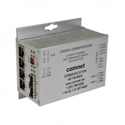 Comnet CNGE4+2SMS/m Intelligent Ring Gigabit Switch with Optional PoE+