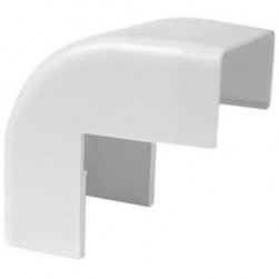 "Wire Trak FMOC1125W Raceway Fitting, Outside Corner, 1 1/2"" W x 3/4"" H, White"
