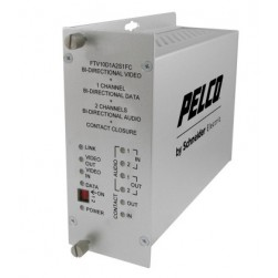 Pelco FRV10D1A2S1ST 1 Channel Bi-Directional Receiver with ST Connector, Single Mode