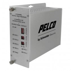 Pelco FRV40D2M1ST 4 Channel ST Fiber Receiver, Multi-Mode