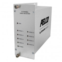 Pelco FRV80S1ST 8 Channel Video Multiplexer RX ST Connector, Single mode