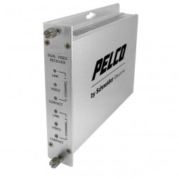 Pelco FRV20S2ST 2 Channel Fiber Receiver with ST Connector, Single-Mode
