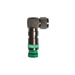 PPC FSNS6URA-25 ProSNS RG6 Right Angle F Connector (Green) - 25 Pack