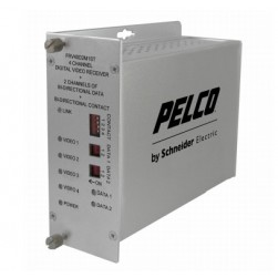 Pelco FTV40D2M1ST 4 Channel ST Video Fiber Transmitter Bidirectional, Multi-Mode