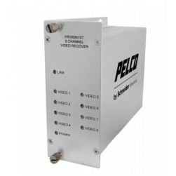 Pelco FTV80M1ST 8 Channel Video Fiber Transmitter with ST Connector, Multi-Mode