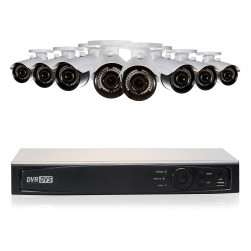Cantek Plus GR8B2TB 8 Camera HD TVI 2.4 MP Bullet Security System