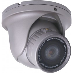 Speco HT-INTD9W 1/3-inch Intensifier 2 Weatherproof Day/Night Dome Camera, 5-50mm Lens, White Housing