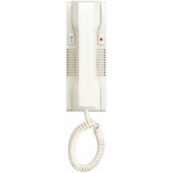 Alpha HT2003C2WH 5 Wire Wall Handset-Carbon-White