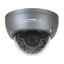 Speco HT5940T Intense IR HD-TVI 1080p 2 Megapixel Outdoor Dome Camera, 2.8-12mm, Dark Grey